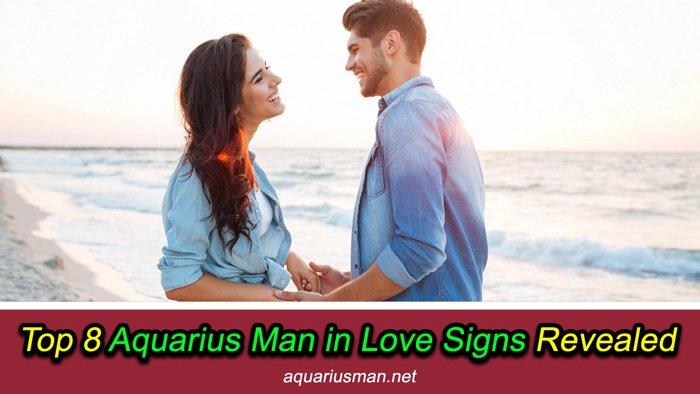 Aquarius man in love signs